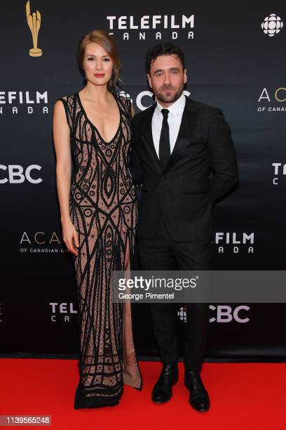 Actress Tori Anderson and Actor Allan Hawco attend the 2019 Canadian Screen Awards Broadcast Gala at Sony Centre for the Performing Arts on March 31...
