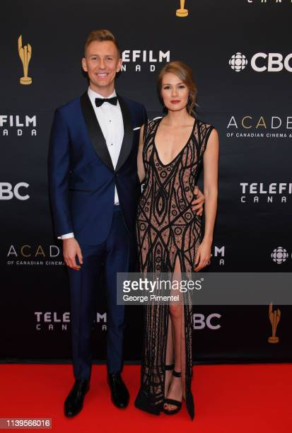 Actress Tori Anderson and husband Mitch Myers attend the 2019 Canadian Screen Awards Broadcast Gala at Sony Centre for the Performing Arts on March...