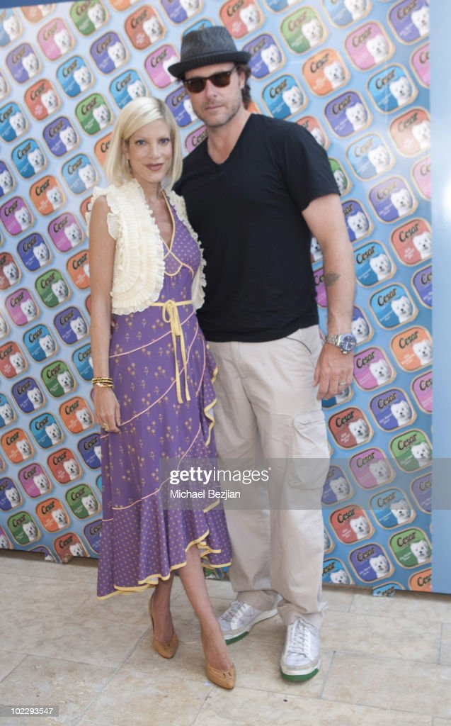 Actress Tori Spelling and actor Dean McDermott attend day 2 of Cesar Canine Cuisine at the Kari Feinstein MTV Movie Awards Style Lounge at Montage Beverly Hills on June 4, 2010 in Beverly Hills, California.