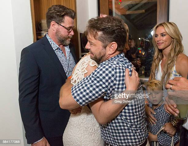 Actress Tori Spelling and Actor Jason Priestley attend the Raising The Bar To End Parkinson's after party at Laurel Point on July 27 2016 in Studio...
