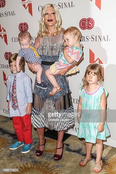 Actress Tori Spelling and children Liam Aaron McDermott Finn Davey McDermott Hattie Margaret McDermott and Stella Doreen McDermott attend The Helping...