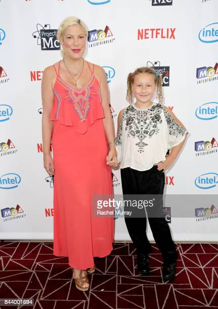 Actress Tori Spelling and daughter Stella McDermott attend the Netflix Series Project Mc2 Part 5 Premiere hosted by Jennie Garth and MGA...