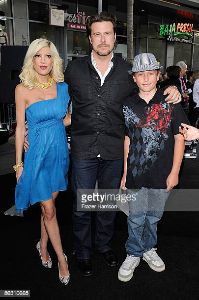 Actress Tori Spelling and Dean McDermott with his son Jack arrive at the Premiere Of Paramount's Star Trek on April 30 2009 at Grauman�s Chinese...