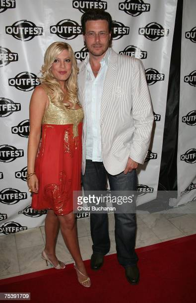 Actress Tori Spelling and husband Dean McDermott attend the opening night gala of OUTFEST 2007 at the Orpheum Theater on July 12 2007 in Los Angeles...