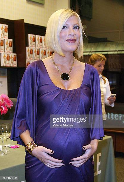 Actress Tori Spelling attends a signing for her book Stori Telling at Barnes and Noble in the Grove on March 14 2008 in West Hollywood California