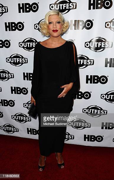 Actress Tori Spelling attends the 2011 Outfest Opening Night Gala of Gun Hill Road at the Orpheum Theatre on July 7 2011 in Los Angeles California
