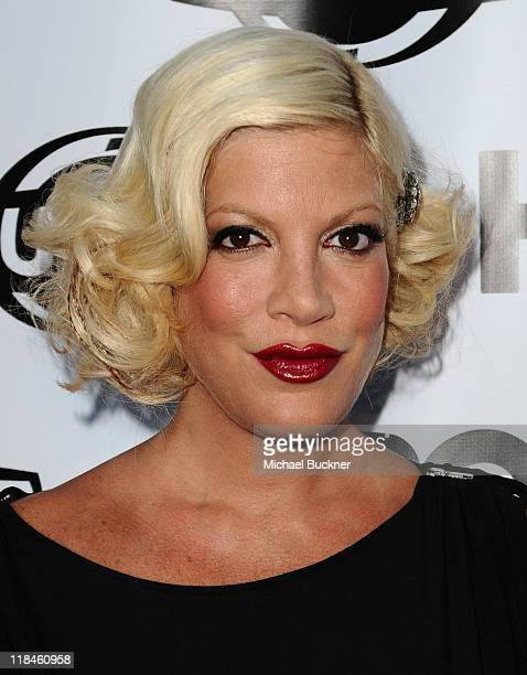 Actress Tori Spelling attends the 2011 Outfest Opening Night Gala of 'Gun Hill Road' at the Orpheum Theatre on July 7 2011 in Los Angeles California