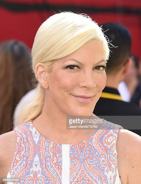 Actress Tori Spelling attends the premiere of 20th Century Fox's 'The Peanuts Movie' at Regency Village Theatre on November 1 2015 in Westwood...