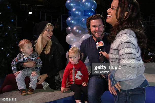"""Actress Tori Spelling, Dean McDermott and family attend Disney On Ice Presents """"Rockin' Ever After"""" Premiere/Skating Party at Staples Center on..."""