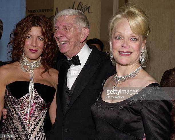 Actress Tori Spelling left her father producer Aaron Spelling and wife Candy Spelling arrive October 28 2000 at The Carousel of Hope Ball benefiting...