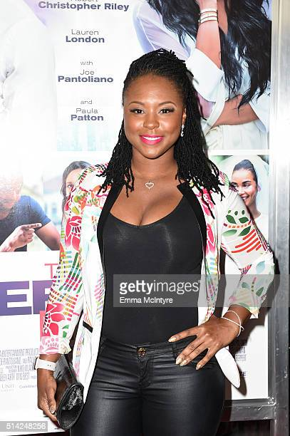 Actress Torrei Hart attends the premiere of Lionsgate's 'The Perfect Match' at ArcLight Hollywood on March 7 2016 in Hollywood California