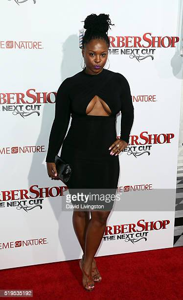 Actress Torrei Hart attends the premiere of New Line Cinema's 'Barbershop The Next Cut' at the TCL Chinese Theatre on April 6 2016 in Hollywood...