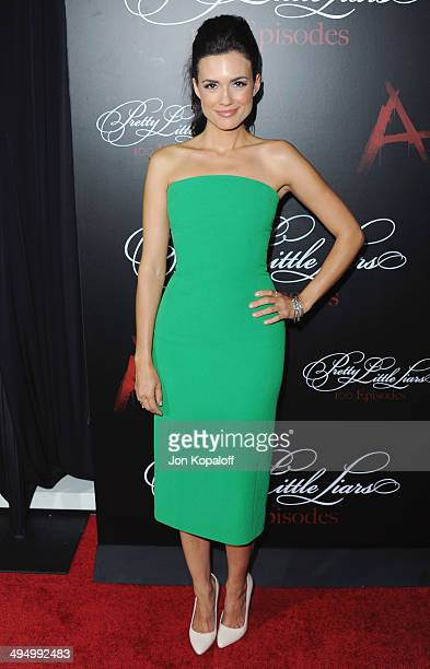 Actress Torrey DeVitto arrives at 'Pretty Little Liars' Celebrates 100 Episodes at W Hollywood on May 31 2014 in Hollywood California