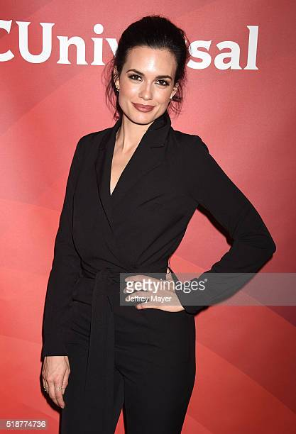Actress Torrey DeVitto arrives at the 2016 Summer TCA Tour NBCUniversal Press Tour at the Four Seasons Hotel Westlake Village on April 1 2016 in...