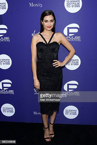 Actress Torrey DeVitto arrives at the Benefit for onePULSE Foundation at NeueHouse Hollywood on August 19 2016 in Los Angeles California