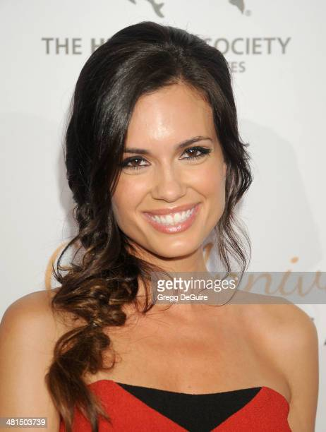 Actress Torrey DeVitto arrives at The Humane Society Of The United States 60th anniversary benefit gala at The Beverly Hilton Hotel on March 29 2014...