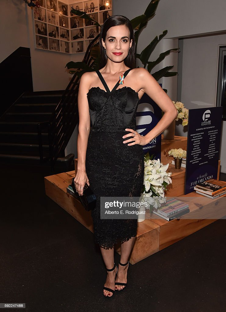 Actress Torrey DeVitto attends a cocktail reception Benefit for onePULSE Foundation at NeueHouse Hollywood on August 19, 2016 in Los Angeles, California.