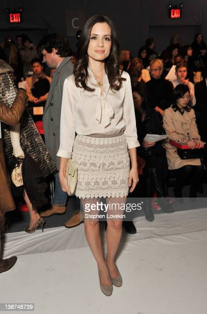 Actress Torrey DeVitto attends the Son Jung Wan Fall 2012 fashion show during MercedesBenz Fashion Week at The Studio at Lincoln Center on February...