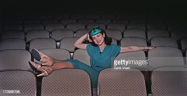 Actress Tovah Feldshuh sitting in a theatre on June 61979 in New York New York