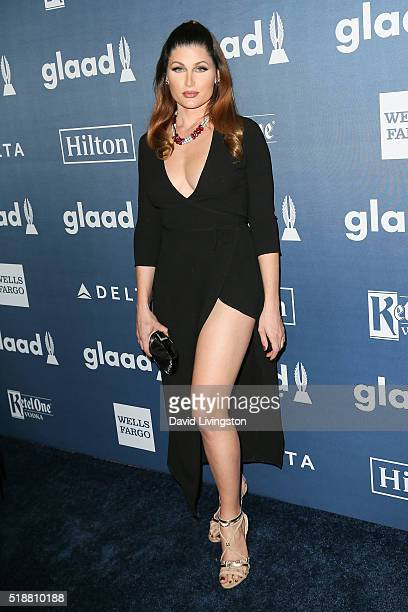 Actress Trace Lysette arrives at the 27th Annual GLAAD Media Awards at The Beverly Hilton Hotel on April 2 2016 in Beverly Hills California