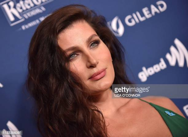 Actress Trace Lysette arrives at the 30th Annual GLAAD Media Awards at the Beverly Hilton Hotel in Beverly Hills on March 28 2019