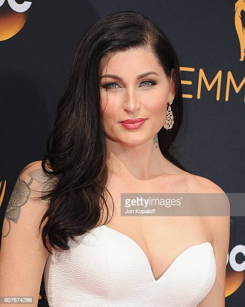 Actress Trace Lysette arrives at the 68th Annual Primetime Emmy Awards at Microsoft Theater on September 18 2016 in Los Angeles California