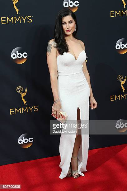 Actress Trace Lysette arrives at the 68th Annual Primetime Emmy Awards at the Microsoft Theater on September 18 2016 in Los Angeles California