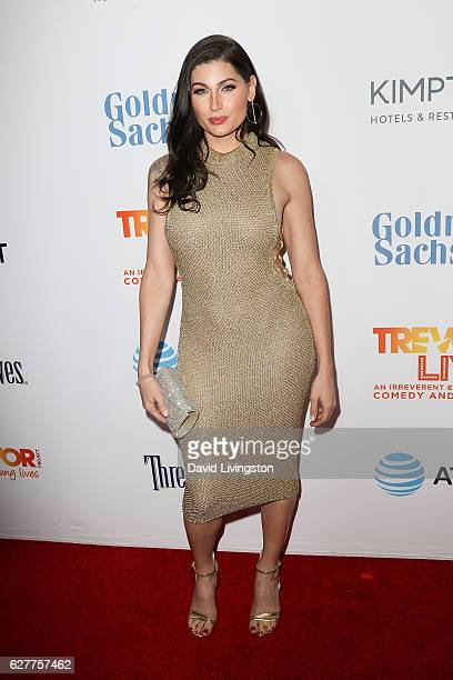 Actress Trace Lysette arrives at the TrevorLIVE Los Angeles 2016 Fundraiser at The Beverly Hilton Hotel on December 4 2016 in Beverly Hills California