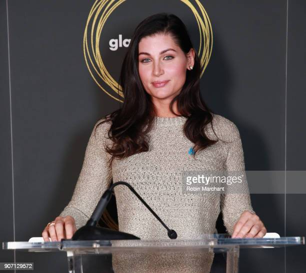 Actress Trace Lysette attends GLAAD Media Awards Nominations Announcement At Sundance on January 19 2018 in Park City Utah