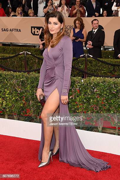 Actress Trace Lysette attends The 22nd Annual Screen Actors Guild Awards at The Shrine Auditorium on January 30 2016 in Los Angeles California...