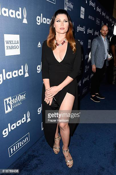 Actress Trace Lysette attends the 27th Annual GLAAD Media Awards at the Beverly Hilton Hotel on April 2 2016 in Beverly Hills California