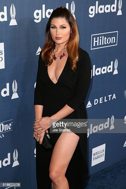 Actress Trace Lysette attends the 27th Annual GLAAD Media Awards hosted by Ketel One Vodka at the Beverly Hilton on April 2 2016 in Beverly Hills...