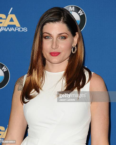 Actress Trace Lysette attends the 68th annual Directors Guild of America Awards at the Hyatt Regency Century Plaza on February 6 2016 in Los Angeles...