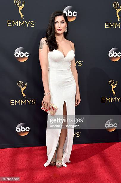 Actress Trace Lysette attends the 68th Annual Primetime Emmy Awards at Microsoft Theater on September 18 2016 in Los Angeles California