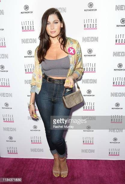 Actress Trace Lysette attends the Los Angeles Pink Carpet Premiere of Little Woods hosted by Refinery29 NEON and Rooftop Cinema Club at NeueHouse...