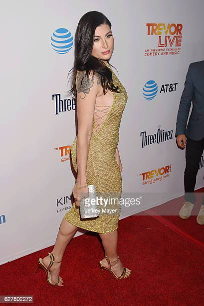 Actress Trace Lysette attends the TrevorLIVE Los Angeles 2016 Fundraiser at the Beverly Hilton Hotel on December 04 2016 in Beverly Hills California