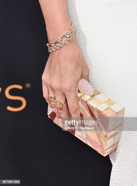Actress Trace Lysette handbag detail attends the 68th Annual Primetime Emmy Awards at Microsoft Theater on September 18 2016 in Los Angeles California