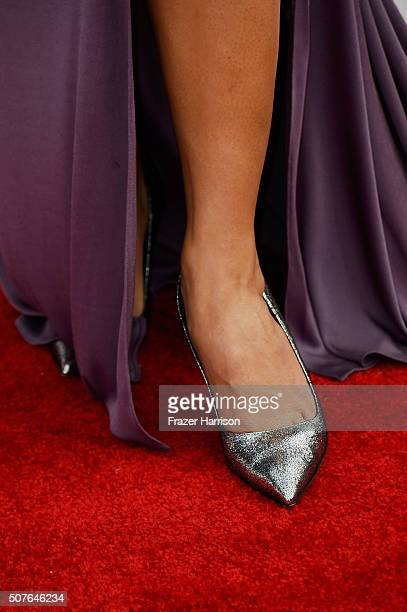 Actress Trace Lysette shoe detail attends the 22nd Annual Screen Actors Guild Awards at The Shrine Auditorium on January 30 2016 in Los Angeles...