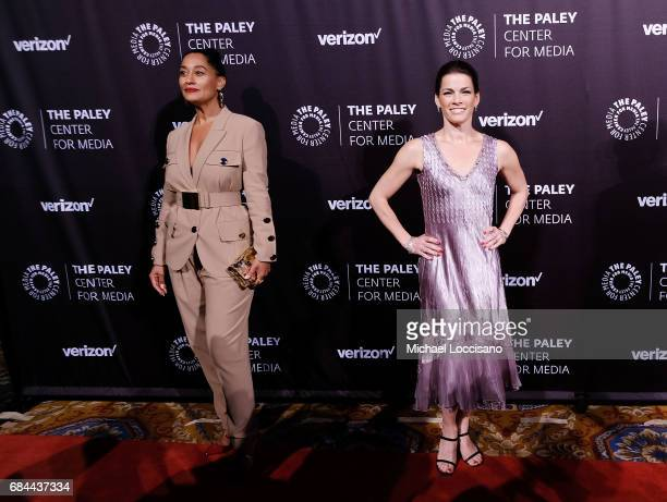 Actress Tracee Ellis Ross and former professional figure skater Nancy Kerrigan attend the The Paley Honors Celebrating Women In Television event at...