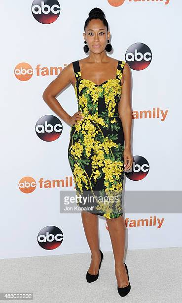 Actress Tracee Ellis Ross arrives at Disney ABC Television Group's 2015 TCA Summer Press Tour at the Beverly Hilton Hotel on August 4 2015 in Beverly...