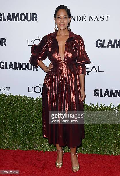 Actress Tracee Ellis Ross arrives at Glamour Women of the Year 2016 at NeueHouse Hollywood on November 14 2016 in Los Angeles California