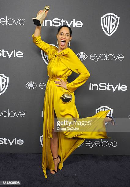 Actress Tracee Ellis Ross arrives at the 18th Annual PostGolden Globes Party hosted by Warner Bros Pictures and InStyle at The Beverly Hilton Hotel...