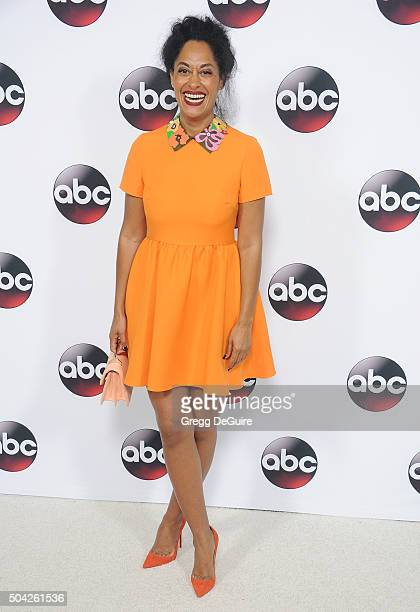 Actress Tracee Ellis Ross arrives at the 2016 Winter TCA Tour Disney/ABC at Langham Hotel on January 9 2016 in Pasadena California