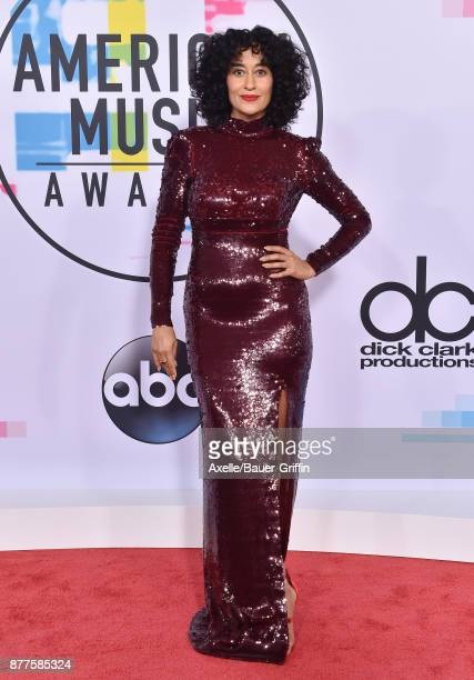 Actress Tracee Ellis Ross arrives at the 2017 American Music Awards at Microsoft Theater on November 19 2017 in Los Angeles California