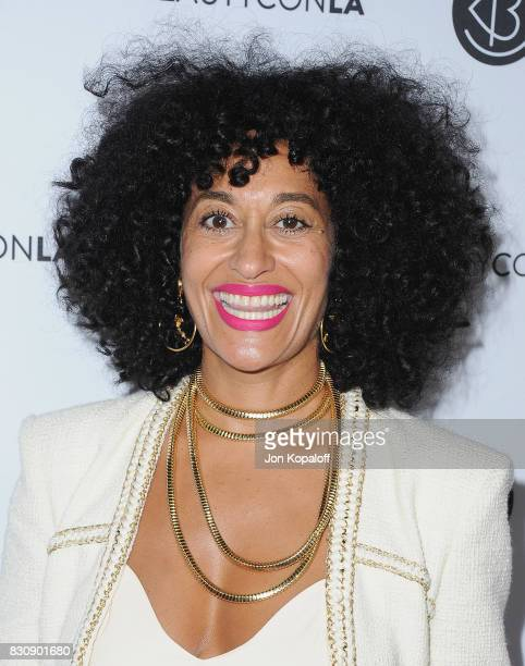 Actress Tracee Ellis Ross arrives at the 5th Annual Beautycon Festival Los Angeles at Los Angeles Convention Center on August 12 2017 in Los Angeles...