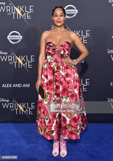 Actress Tracee Ellis Ross arrives at the premiere of Disney's 'A Wrinkle In Time' at El Capitan Theatre on February 26 2018 in Los Angeles California