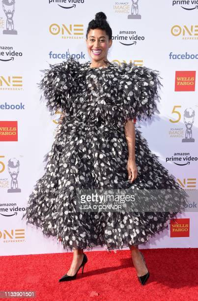 US actress Tracee Ellis Ross arrives for the 50th NAACP Image awards at the Dolby theatre on March 30 2019 in Los Angeles