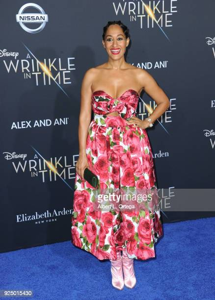 Actress Tracee Ellis Ross arrives for the Premiere Of Disney's 'A Wrinkle In Time' held at the El Capitan Theatre on February 26 2018 in Los Angeles...
