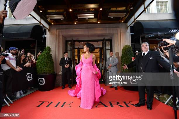 Actress Tracee Ellis Ross attends as The Mark Hotel celebrates the 2018 Met Gala at The Mark Hotel on May 7 2018 in New York City