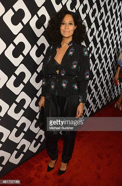 Actress Tracee Ellis Ross attends Diane Von Furstenberg's Journey of A Dress Exhibition Opening Celebration at May Company Building at LACMA West on...